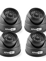 KingNEO KD102-41 IR Dummy Camera Dome Simulated Surveillance Security Camera 4pcs Black