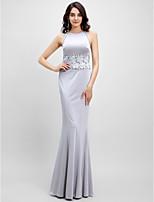 Evento Formal Vestido Trompeta / Sirena Joya Hasta el Suelo Jersey con Encaje