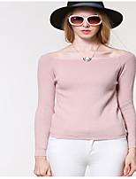 Women's Solid Pink Cardigan,Vintage / Street chic Long Sleeve
