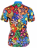 Cycling Tops / Jerseys Women's Bike Ultraviolet Resistant / Quick Dry / Sweat-wicking Short Sleeve Stretchy Coolmax Floral / Botanical Red