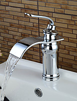 High Quality Contemporary Chrome Waterfall Bathroom Sink Faucet