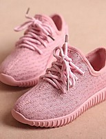 Unisex Summer Round Toe / Comfort Tulle Casual Flat Heel Lace-up Pink / Gray