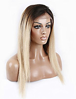 10-26Inch Ombre Color 1B/613 Blonde Tow Tones Straight 8A Grade Brazilian Virgin Remy Hair Lace Front Wigs