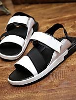 Zapatos de Hombre-Sandalias-Exterior / Deporte-Semicuero-Negro / Amarillo / Blanco / Multicolor
