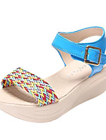 Women's Sandals Summer Sandals PU Casual Chunky Heel Buckle Blue / Beige / Orange Others