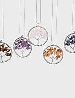 Beadia 1Pc Fashion Wisdom Tree Stone Pendant Necklace