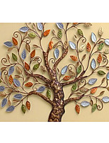 Shinny Leather Effect Large Mural Wallpaper Cartoon Colorful Tree Art Wall Decor Wall Paper