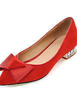 Women's Shoes  Spring  / Fall Heels Heels Outdoor / Office & Career / Casual Low Heel Bowknot Black / Red&9-70