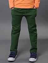 Pantalones Boy-Primavera-Algodón-Un Color