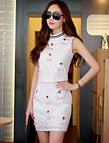 Pink Doll® Women's Set Drill Above Knee Skirt-X15BSK013