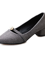 Women's Heels Summer Heels Fleece Casual Chunky Heel Pearl Black / Gray / Orange Others