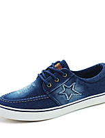 Men's Sneakers Spring / Fall Styles / Round Toe Fabric Athletic Flat Heel Lace-up / Others Blue / Navy Sneaker