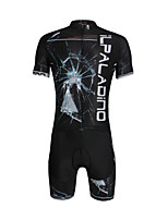 PaladinSport Men 's Cycyling Jersey + Shorts Suit DT636 Broken Glass