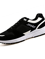 Men's Shoes PU Outdoor / Casual Sneakers Outdoor / Casual Walking Flat Heel Others / Lace-up Black / White