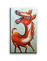 Peintures à l'huile Animal Style européen / Style / Modern / Classique / Traditionnel / Réalisme / Méditerranéen / Pastoral,Un Panneau
