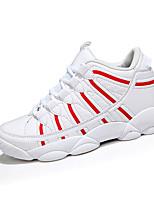 Women's Spring / Summer / Fall Comfort PU Athletic Flat Heel Black / Red / White