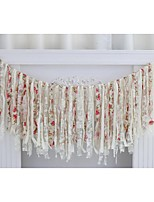 Vintage Shabby Chic Fabric Garlands Banner Wedding Party Bridal Shower Decoration