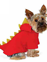 Cat / Dog Costume / Hoodie / Clothes/Jumpsuit Red Winter / Spring/Fall Animal Halloween, Dog Clothes