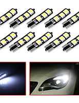 10pcs T10 6SMD 5050 Canbus Car LED Light Bulb For Car Tail light Side Parking Dome Door Map light (DC12V)