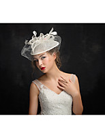 Women's Feather / Tulle / Flax Headpiece-Special Occasion Fascinators 1 Piece Clear Irregular 15