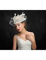 Vrouwen Veren / Tule / Vlas Helm-Speciale gelegenheden Fascinators 1 Stuk Helder Onregelmatig 15