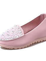 Women's Flats Summer Comfort PU Casual Flat Heel Sequin Blue / Pink / White Others