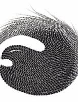 Grau Senegal Twist Braids Haarverlängerungen 22 inch Kanekalon 20 roots /pack Strand 100g Gramm Haar Borten