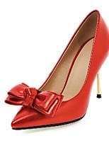 Mujer-Tacón Stiletto-Tacones-Tacones-Exterior / Oficina y Trabajo / Casual-Sintético-Negro / Rosa / Rojo / Plata