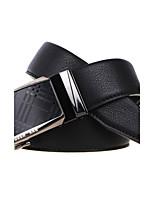 A4009-4  Men's Cowhide Belt Business Automatic Buckle Belt Black