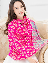 National Wind Jacquard Pallium Vintage Temperament Cherry Printing Scarf