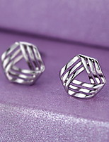 Earring Geometric Stud Earrings Jewelry Women Fashion Party / Daily Sterling Silver 1 pair Silver