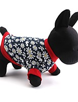 Chat / Chien T-shirt Rouge Printemps/Automne Floral / Botanique Mode, Dog Clothes / Dog Clothing-Pething®