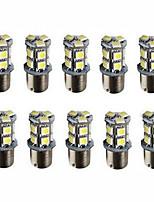 10pcs 1156 13SMD 5050 White Color Brake Tail Turn Signal Light Bulb Lamp Auto Led Car Bulb Light (12V)