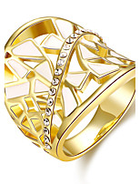 2016 New 18K Gold Plated Noble Luxury Zircon Women Party Ring