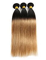 Ombre Hair Extensoins Straight Indian Remy Human Hair Weave Bundles 3 Bundles 10