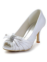 Women's Spring / Summer / Fall Heels / Peep Toe Silk Wedding / Dress / Party & Evening Stiletto Heel Sparkling Glitter / Ruffles / Slip-on