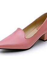 Women's Heels Summer Heels Patent Leather Casual Chunky Heel Others Black / Pink / Red Others