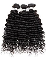 3 Pcs/Lot Peruvian Deep Wave Virgin Hair Weave Natural Black Remy Human Hair Extensions 300G