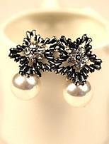 2016 New Boho Fashion Statement Pearl Jewelry Earring Crystal Star Stud Earrings for Women Earring