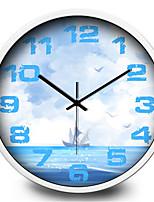 Simple Creative Tender Ship Mute Wall Clock
