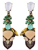 Rice Beads Bohemia Beach Wind Multicolored Gems Earrings