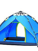 Tenda-Impermeabile / Traspirabilità / Anti-vento / Tenere al caldo / Ultra leggero (UL) / Meteo a freddo-3-4 persone-Verde / Blu