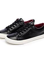 Men's Shoes PU Athletic Sneakers Athletic Sneaker Low Heel Lace-up Black