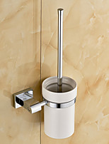 Toilet Brush Holder / Chrome / Wall Mounted /20*10*37 /Brass /Contemporary /20 10 0.389