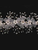 Dame Krystal / Legering / Imiteret Perle / Net Medaljon-Bryllup / Speciel Lejlighed Pandebånd 1 Stykke Klar Rund 19cm