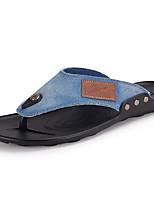 Men's Shoes Latex Casual Slippers & Flip-Flops Casual Walking Flat Heel Others Black / Blue / Royal Blue