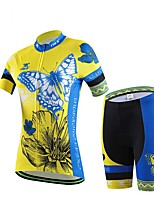Cheji Sports Cycling Tops / Bottoms Women's Bike Breathable / Sweat-wicking Short Sleeve High Elasticity Elastane Sport