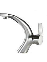 Unique Nickel Brushed Single Handle Bathroom Sink faucet Lavatory Mixer Tap