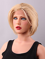 Comfortable Short Layered Straight  Lace Front Human Hair