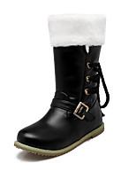Dames Laarzen Lente / Herfst / Winter Paardrijlaarzen / Modieuze laarzen Kunstleer Buiten / Feesten & Uitgaan / Informeel Lage hakGesp /